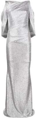 Talbot Runhof metallic fitted long dress