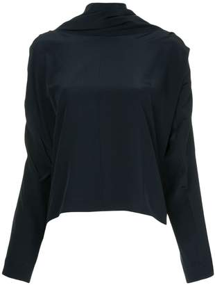Roksanda oversized high neck blouse