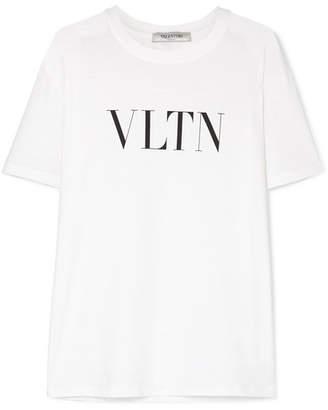 060bfbbd Valentino Printed Cotton-jersey T-shirt - White