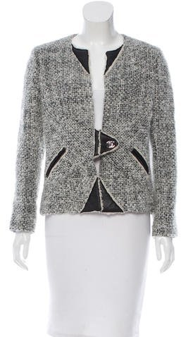 ChanelChanel Leather-Accented Mohair Jacket