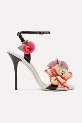 Sophia Webster Jumbo Lilico Floral-appliquéd Leather Sandals