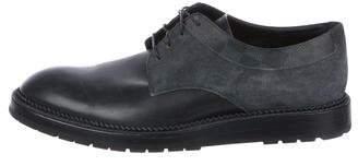Louis Vuitton Leather Damier Derby Shoes