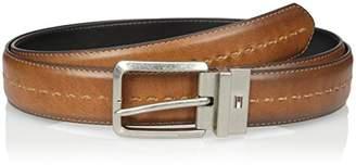 Tommy Hilfiger Men's Stitch Detail Reversible Belt