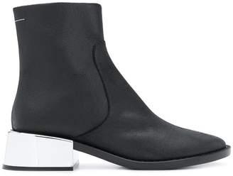 MM6 MAISON MARGIELA mettalic heel ankle boots