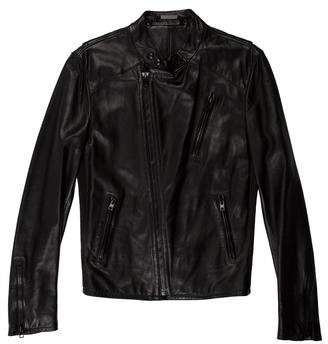 Ralph Lauren Black Label Lambskin Cafe Racer Jacket