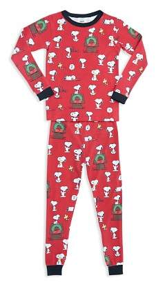 BedHead Unisex Printed Holiday Pajama Shirt & Pants Set - Big Kid