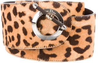 Christian Dior Christian Dior Ponyhair Leopard Waist Belt w/ Tags