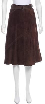 Max Mara Knee-Length Suede Skirt