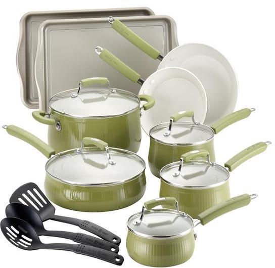 Paula Deen 17-pc. Savannah Collection Cookware set with Bakeware, Pear