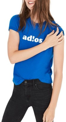 Women's Cristina Adios Flocked Graphic Tee $35 thestylecure.com