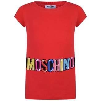 Moschino MoschinoGirls Red Logo Print Tunic Top