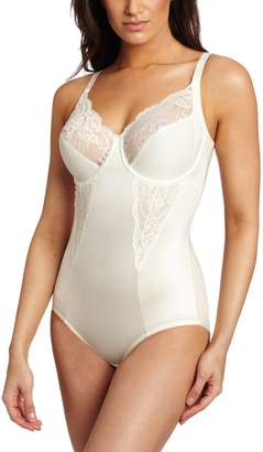 Maidenform Women's Flexees Shapewear Body Briefer with Lace, Buttercream