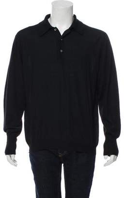 Loro Piana Cashmere & Silk-Blend Polo Sweater