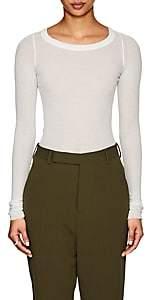 Rick Owens Women's Gossamer Cotton Long-Sleeve T-Shirt-Milk