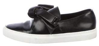 Cédric Charlier Leather Slip-On Sneakers