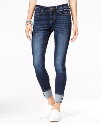 Indigo Rein Juniors' Selvedge Cuffed Skinny Jeans $49 thestylecure.com