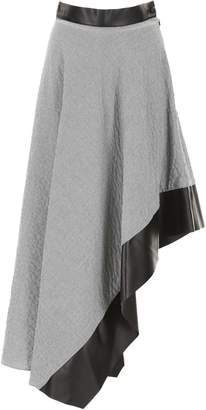Loewe Asymmetric Skirt With Leather Details