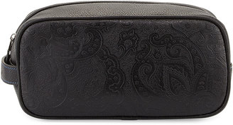 Robert Graham Richard Paisley-Embossed Toiletry Bag, Black $40 thestylecure.com