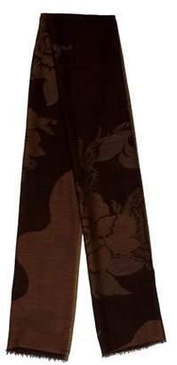 Max Mara Wool Floral Scarf