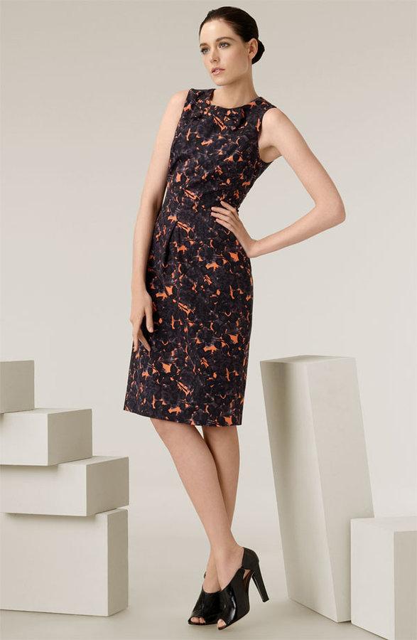 Piazza Sempione Floral Print Bow Sheath Dress