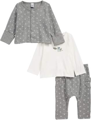 Petit Bateau Tahira Cardigan, T-Shirt & Pants