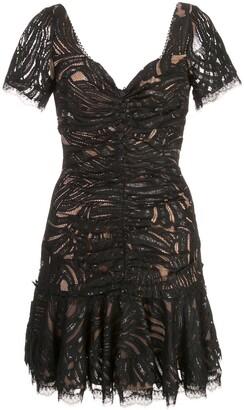 Jonathan Simkhai gathered lace mini dress
