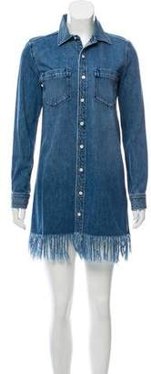 3x1 Long-Sleeve Denim Shirt Dress
