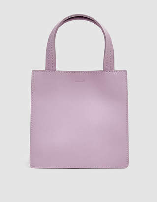 Baggu Small Leather Retail Tote in Pale Orchid