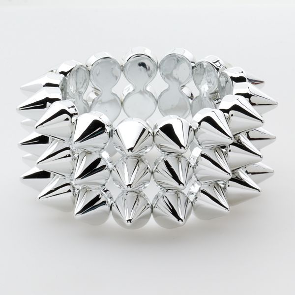 Abbey Dawn Silver-Tone Spike Flex Bracelet