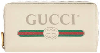 Gucci Off-White Logo Continental Wallet