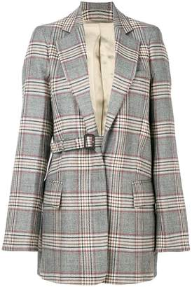 Joseph concealed fastening check coat
