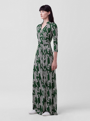 Abigail Silk Jersey Maxi Wrap Dress $598 thestylecure.com