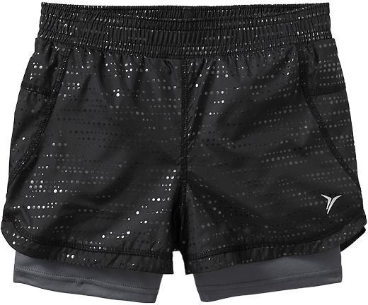 Old Navy Girls Active Double-Layer Shorts