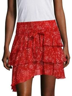 The Kooples Moon Flower Print Skirt