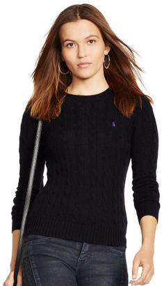 Polo Ralph Lauren Cable Knit Crewneck Sweater $98.50 thestylecure.com