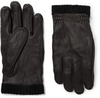 Hestra Fleece-Lined Full-Grain Leather Gloves