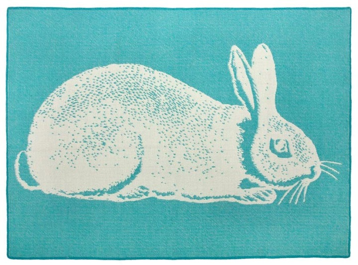 Thomas Paul Aqua Bunny Alpaca Blanket