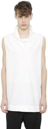 Rick Owens Sleeveless Cotton & Silk Poplin Shirt