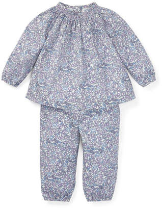 Ralph Lauren Floral Smocked Blouse w/ Matching Pants, Size 6-24 Months
