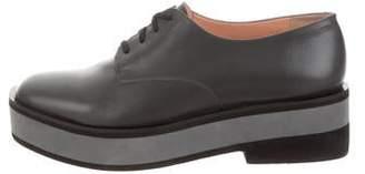 Robert Clergerie Leather Platform Oxfords
