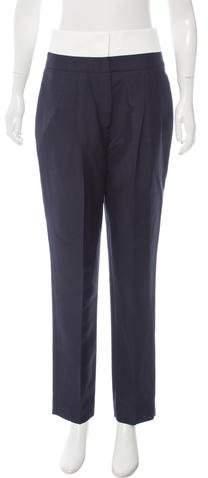 Christian Dior Mohair-Blend High-Rise Pants