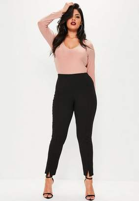 Missguided Plus Size Black Skinny Fit Cigarette Pants