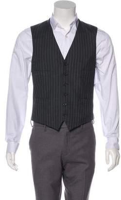 Ralph Lauren Purple Label Striped Wool Suit Vest