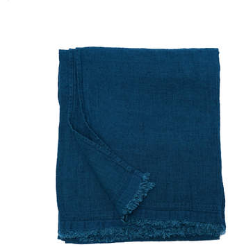 Area EDITH Fringed Washed Linen Throw