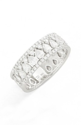 Women's Bony Levy Liora Diamond Mixed Cut Band Ring (Nordstrom Exclusive) $3,995 thestylecure.com