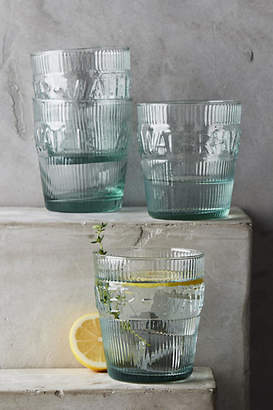 Anthropologie Imprint Water Glasses, Set of 4