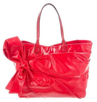 Valentino Patent Leather Bow Tote