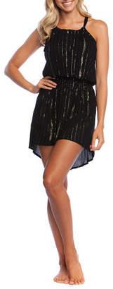 LaBlanca La Blanca Glam Getaway Smocked Metallic Coverup Dress