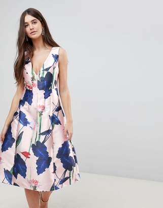 AX Paris V Neck Floral Prom Dress