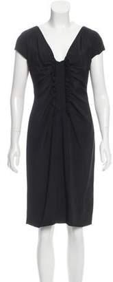 Valentino Ruffle-Trimmed Sheath Dress w/ Tags